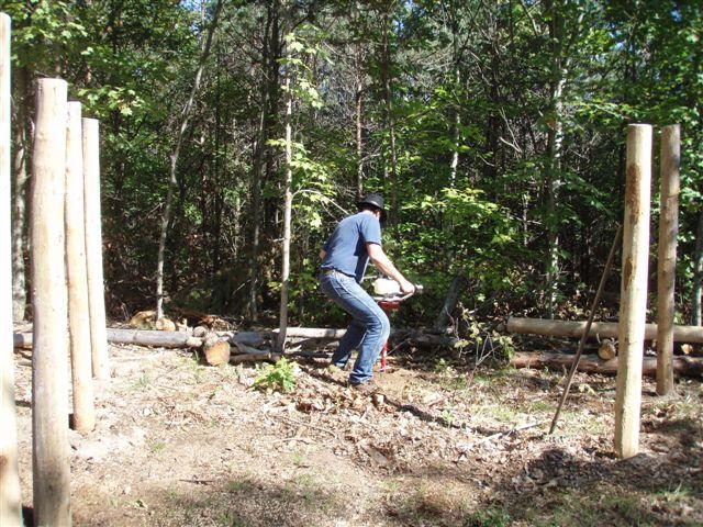 Bill Frey Drilling the Last 4th Circle Post Holes