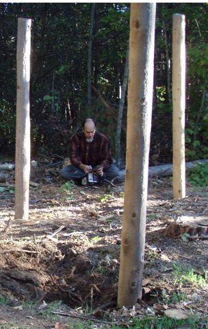 Bill Frey Sharpening the Chainsaw