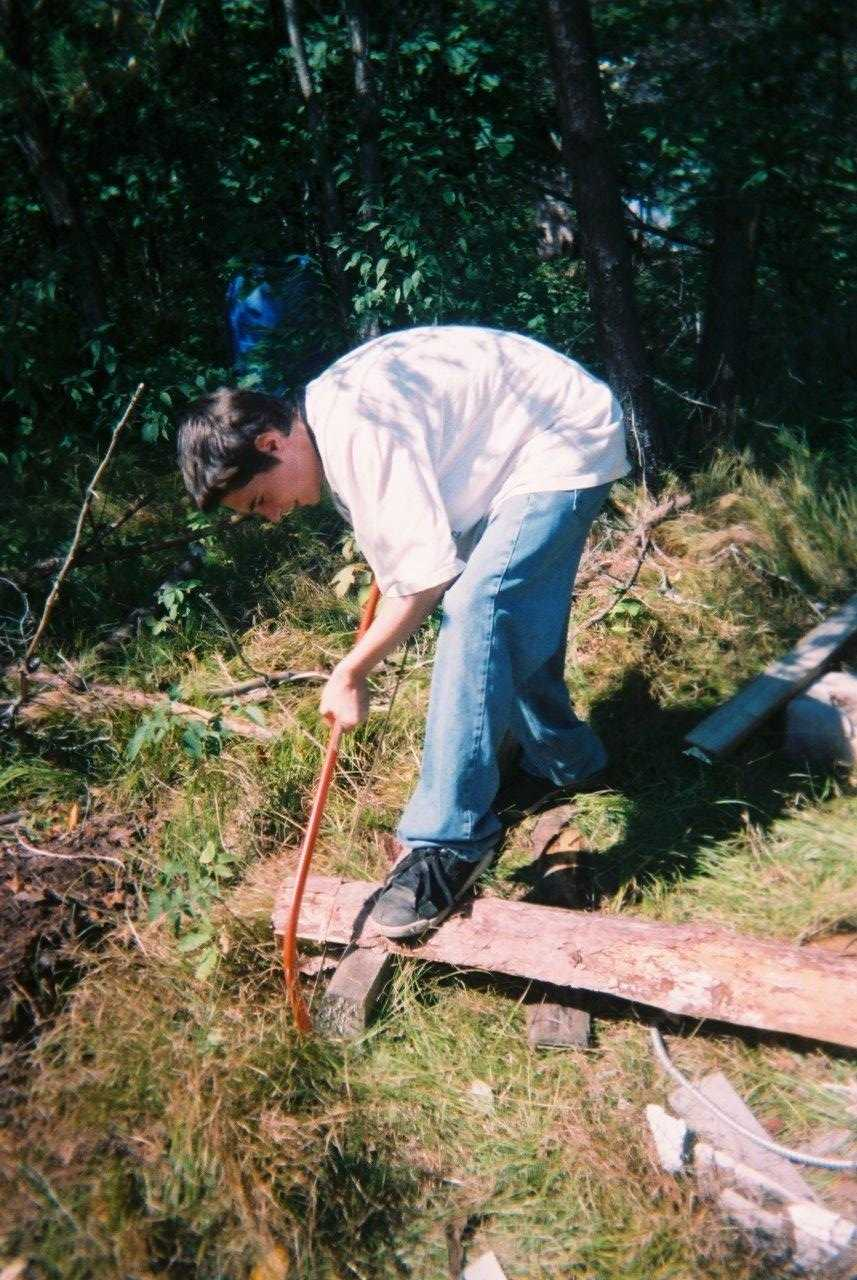Justin Armstrong Sawing Wood 1