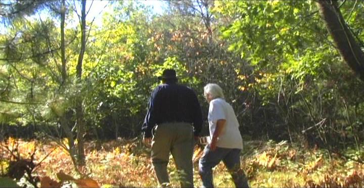 Woodhenge Ceremony - Walking up to the woodhenge 2