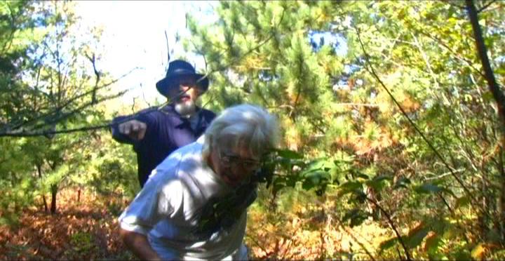 Woodhenge Ceremony - Walking up to the woodhenge 4