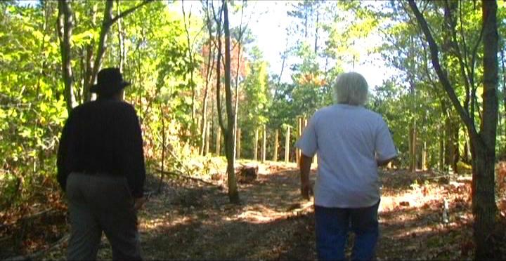 Woodhenge Ceremony - Walking up to the woodhenge 6
