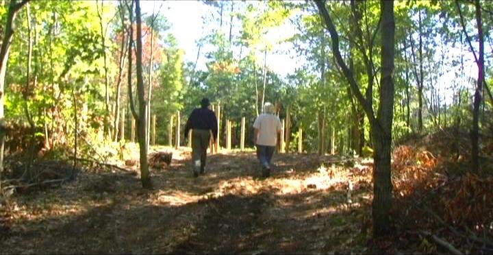 Woodhenge Ceremony - On the perimeter of the woodhenge