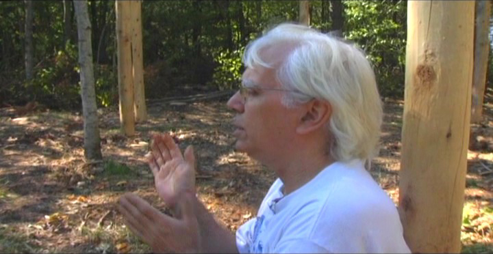 Woodhenge Ceremony - Robin Chanting the I Ching 3