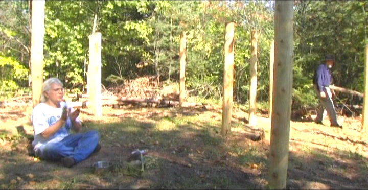 Woodhenge Ceremony - Robin Chanting the I Ching 4