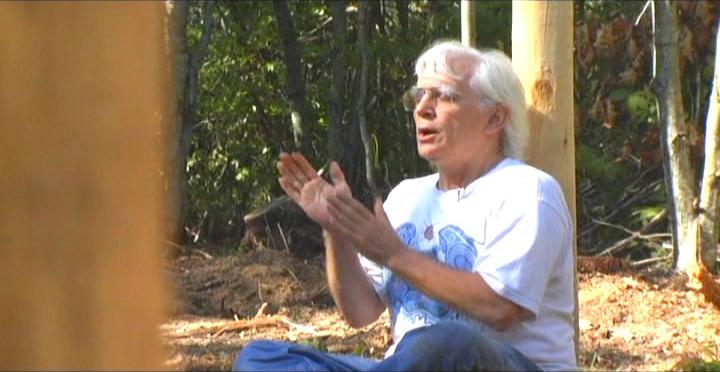 Woodhenge Ceremony - Robin Chanting the I Ching 10
