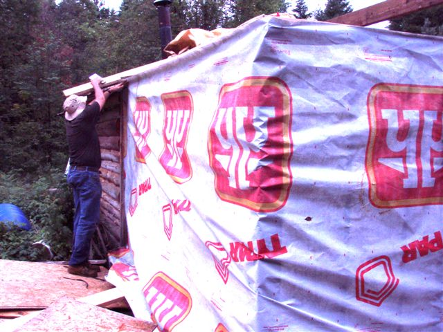 Cabin -Building the Roof (3)