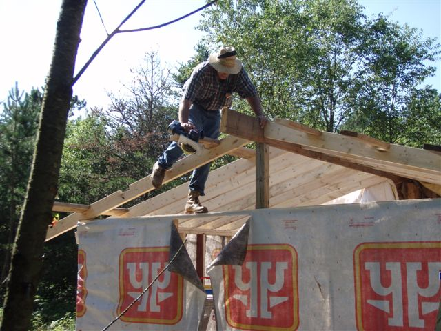 Cabin -Building the Roof (13)