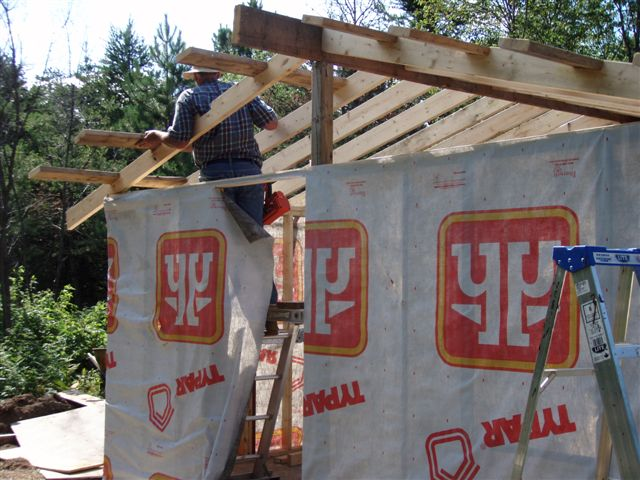 Cabin -Building the Roof (14)