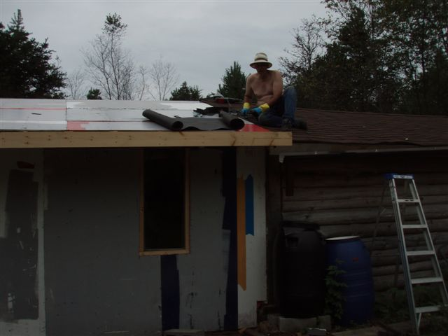 Cabin: Working the Roof