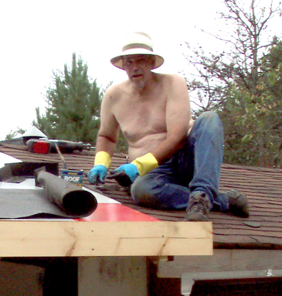 Cabin: Working the Roof!
