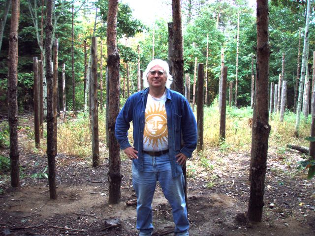 Robin Armstrong at the Outer Edge of The Woodhenge!
