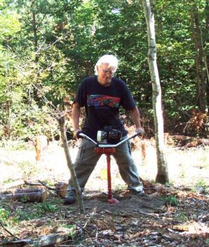 Robin Armstrong Drilling Post Hole #2