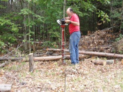 Bill Frey Starting a Post  Hole