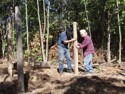 Bill Frey, Robin Armstrong Placing the 30th Post