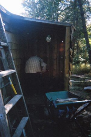 Jesse Footit Filling Woodshed 1
