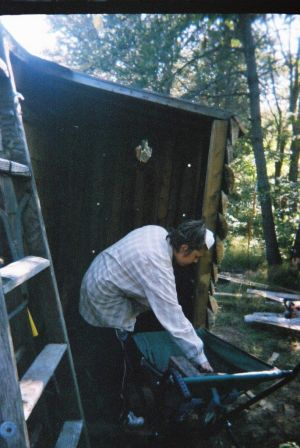 Jesse Footit Filling Woodshed 2