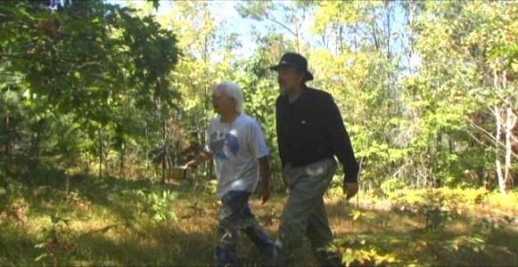 Woodhenge Ceremony - Walking up to the woodhenge