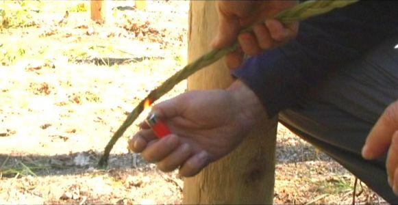 Woodhenge Ceremony - Burning Sweet Grass