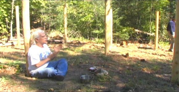 Woodhenge Ceremony - Robin Chanting the I Ching 5
