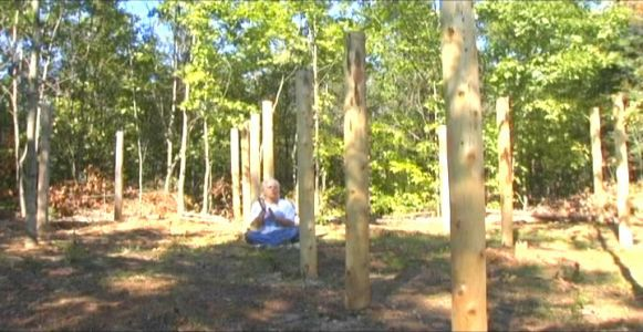Woodhenge Ceremony - Robin Chanting the I Ching 6