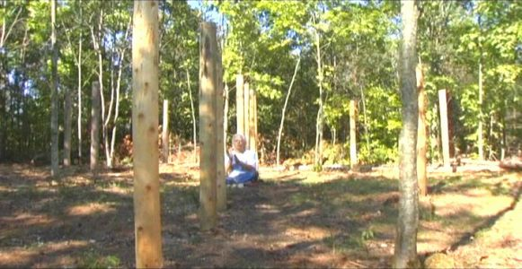 Woodhenge Ceremony - Robin Chanting the I Ching 7
