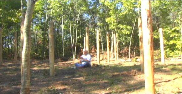 Woodhenge Ceremony - Robin Chanting the I Ching 8