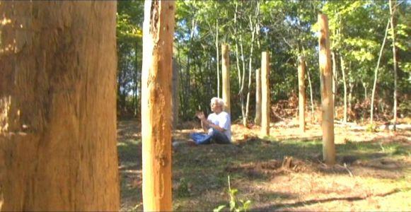 Woodhenge Ceremony - Robin Chanting the I Ching 9