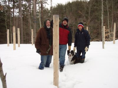 Forest Woodhenge - Bill Frey, Lex and Grif
