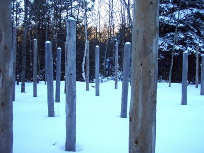 Forest Woodhenge - Winter Solstice - Sunset (2)