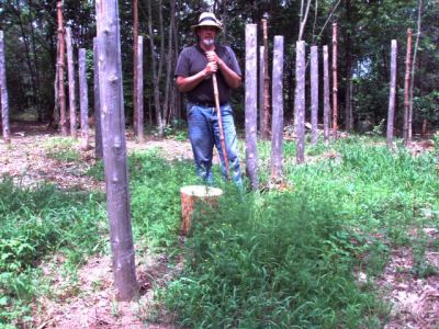 Forest Woodhenge - Bill Frey at Centre
