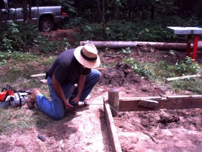 The Cabin - Foundation Work