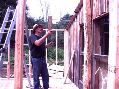 Cabin -Building the Roof (1)
