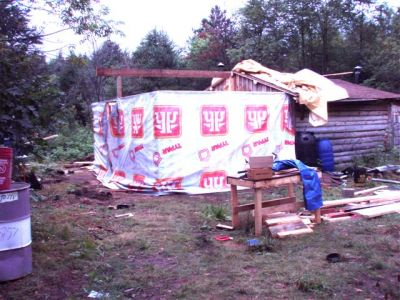 Cabin -Building the Roof (4)