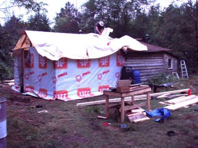 Cabin -Building the Roof (5)