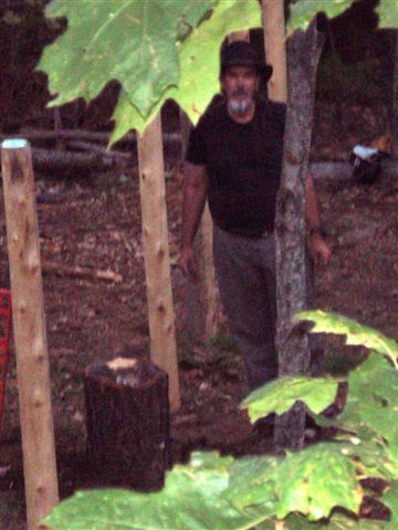 Bill Frey placing the Star Stump at the centre 2