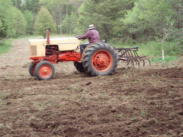 Bill Frey Ploughing the Garden!