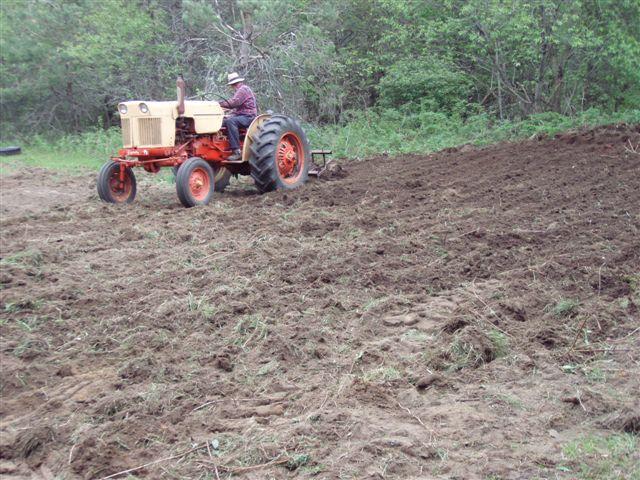 Bill Frey Ploughing the Garden! (2)