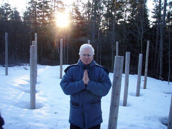 Forest Woodhenge - Spring Equinox - Sunrise - Robin Armstrong