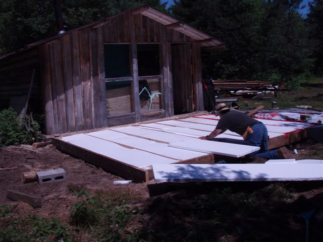 Cabin - Insulating the Foundation