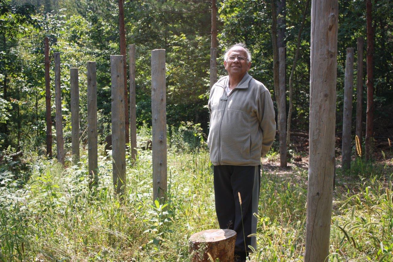 Subrata Mitra at Centre of Forest Woodhenge