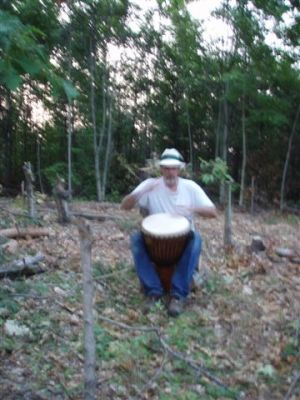 Bill Frey drumming  in the circle 2