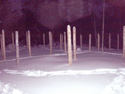Forest Woodhenge -  a Winter Solstice Night
