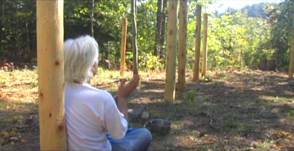 Woodhenge Ceremony - Robin Chanting the I Ching 2