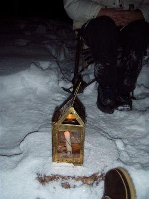 Forest Woodhenge - Spring Equinox Lantern on Star Stump