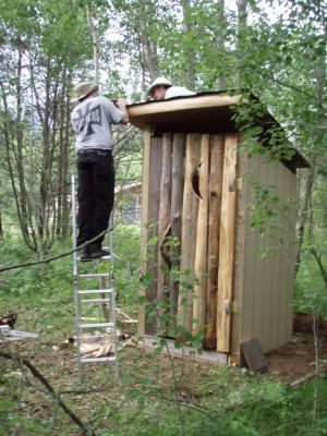 Forest Woodhenge - the Outhouse (5)