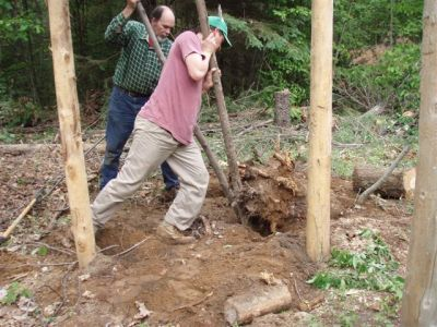 Forest Woodhenge - Working the Big Stump!