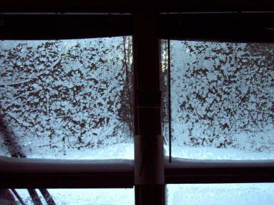 Forest Woodhenge - Frost on Cabin's Windows!!