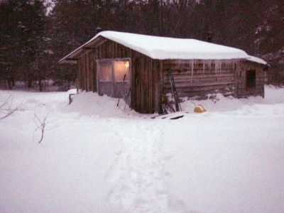 Forest Woodhenge - Winter Solstice - The Cabin!