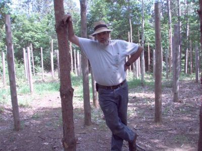 Bill Frey at Forest Woodhenge